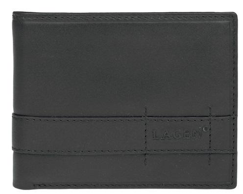 Lagen Pánska čierna kožená peňaženka Black 11224