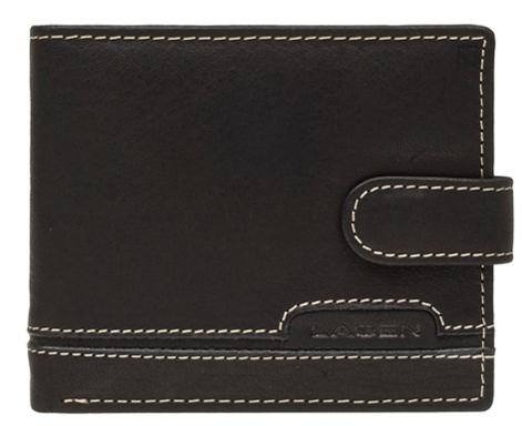 Lagen Pánska čierna kožená peňaženka Black 2004-3
