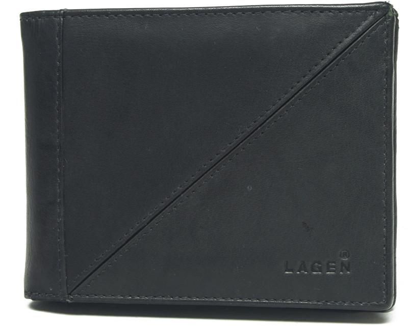 Lagen Pánska čierna kožená peňaženka Black 7175