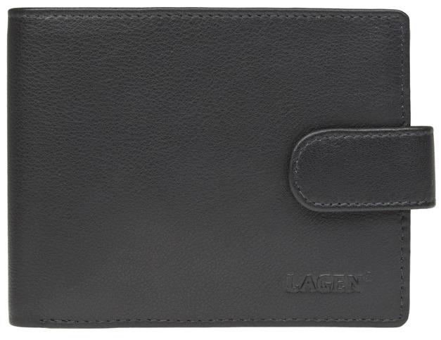 Lagen Pánska čierna kožená peňaženka Black C-22/L