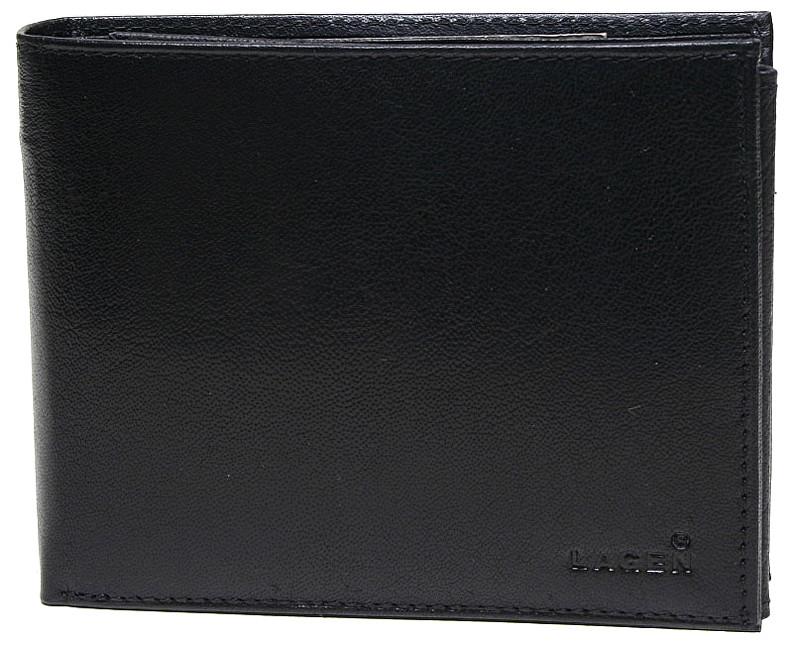 Lagen Pánská černá kožená peněženka Black V-3-1