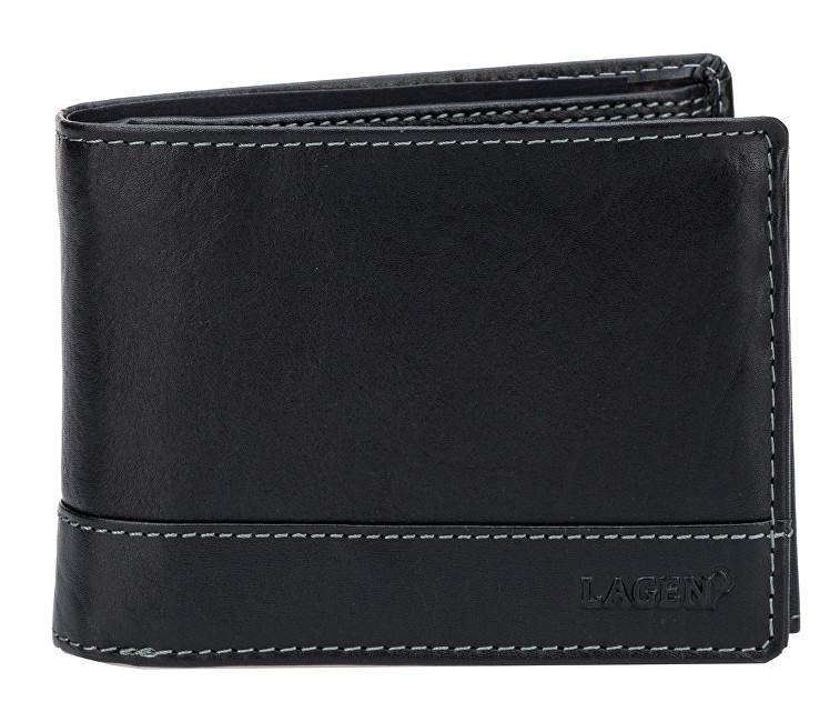 Lagen Pánska čierna kožená peňaženka Black V-76/T