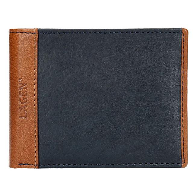 Lagen Pánska kožená peňaženka 5433 Indigo
