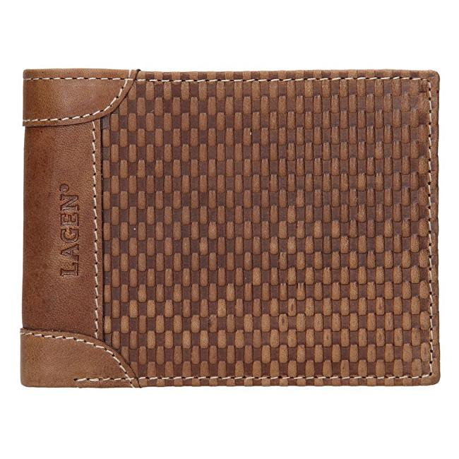 Lagen Pánska kožená peňaženka 5435 Cognac