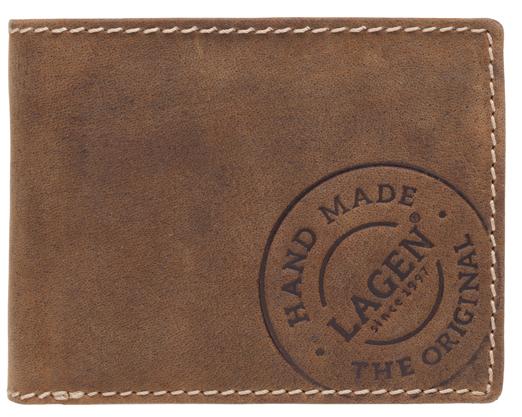 Lagen Pánska hnedá kožená peňaženka Brown 5081/C