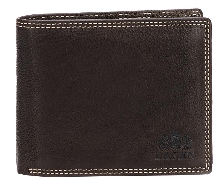 Lagen Pánska hnedá kožená peňaženka Brown 614788-2