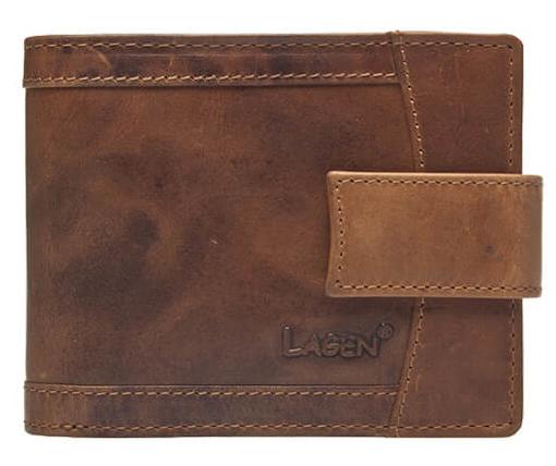 Lagen Pánska hnedá kožená peňaženka Brown V-06 / V