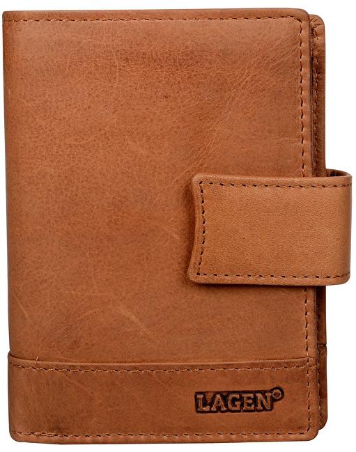96a8a24f8b Lagen Pánska hnedá kožená peňaženka Brown V-27   V