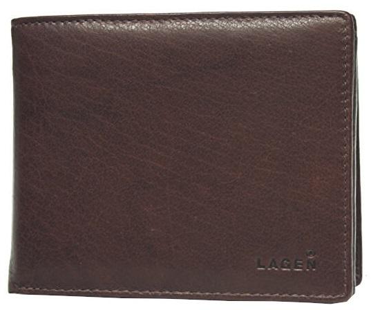 Lagen Pánska hnedá kožená peňaženka Brown V-3