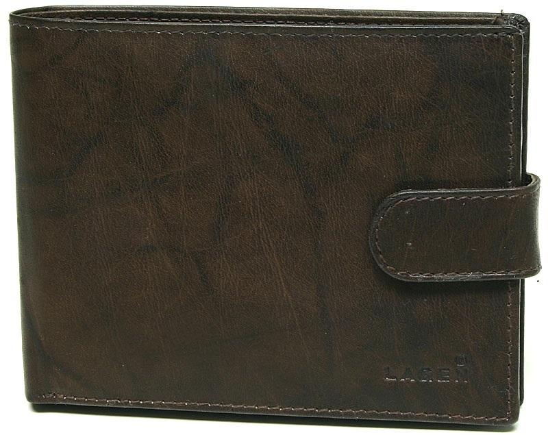 Lagen Pánska hnedá kožená peňaženka Brown V-42