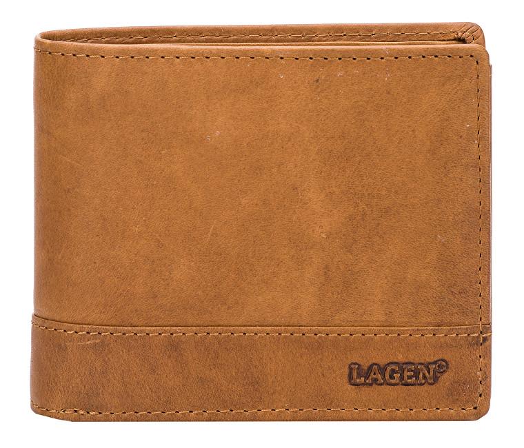 Lagen Pánska hnedá kožená peňaženka Brown V-76 / V