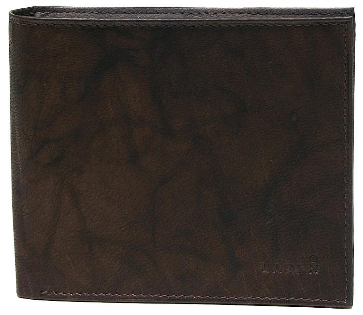 Lagen Pánska hnedá kožená peňaženka Brown W-8154-2