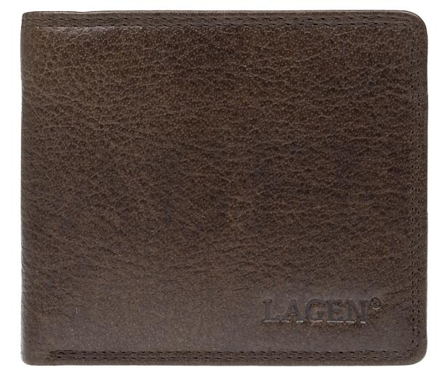 Lagen Pánska kožená peňaženka 1154 Dark Brown