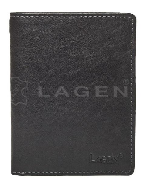 Lagen Pánska kožená peňaženka 2001/T BLK