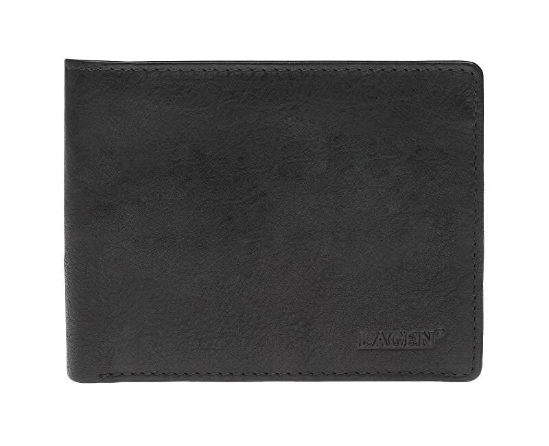 Lagen Pánska kožená peňaženka 2104 E BLK