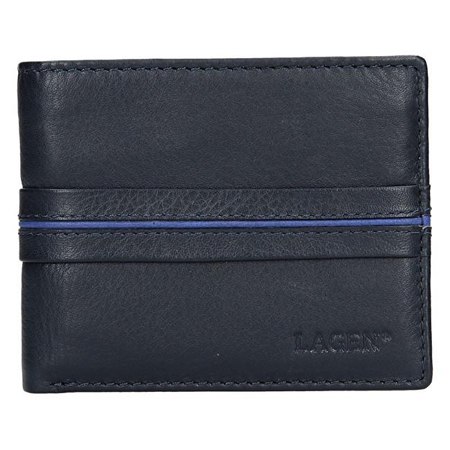 Lagen Pánska kožená peňaženka 3905 Navy/Blue