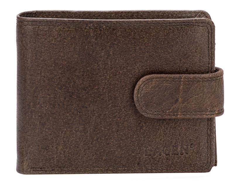 Lagen Pánska kožená peňaženka 4006 Dark Brown