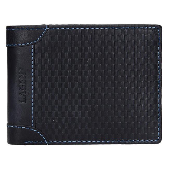 Lagen Pánska kožená peňaženka 5434 Navy