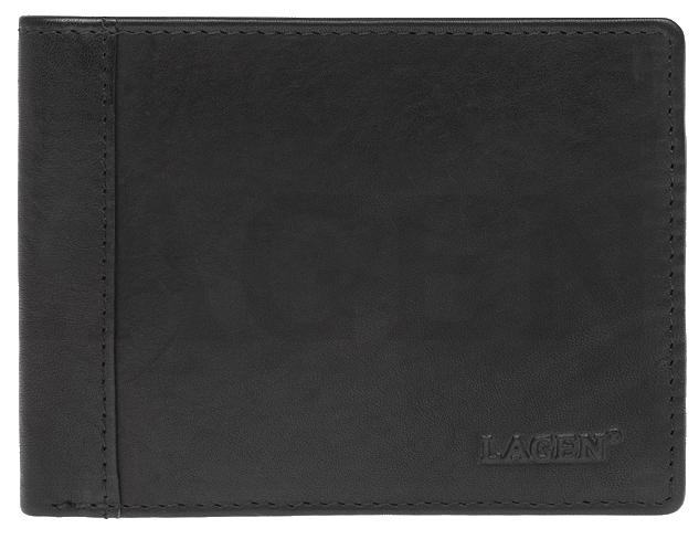 Lagen Pánska kožená peňaženka 7176 E BLK
