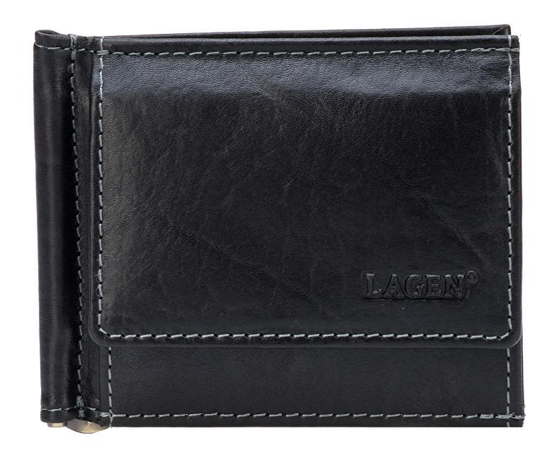 Lagen Pánska kožená peňaženka dolarovka Black 1999 / T