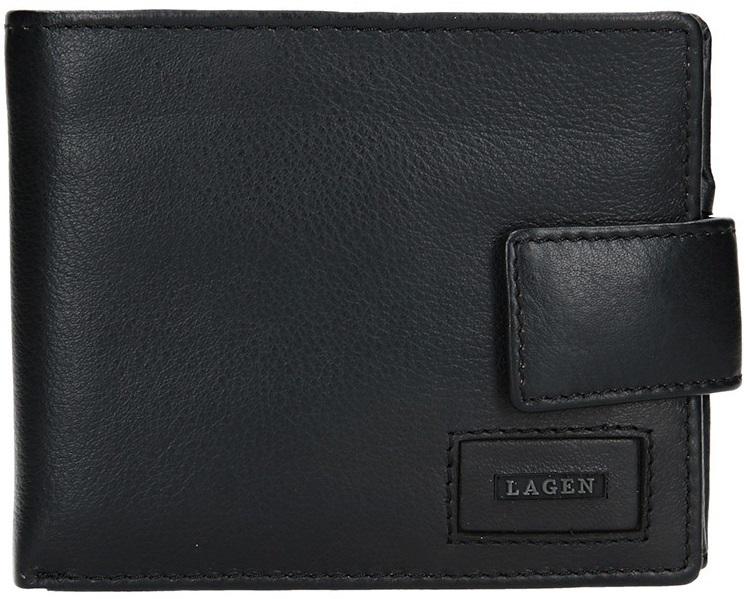 Lagen Pánska kožená peňaženka LG-10299 Black