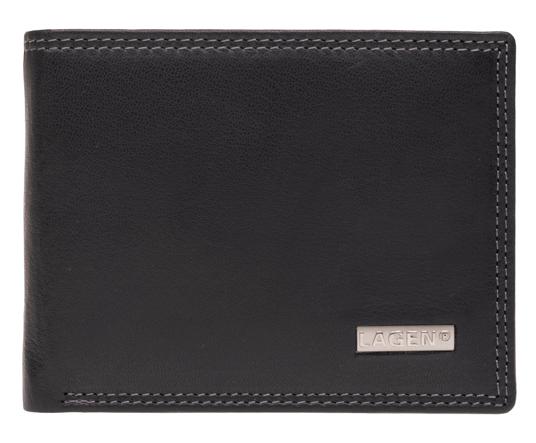 Lagen Pánska kožená peňaženka LG-1789 Black