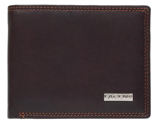 Lagen Pánska kožená peňaženka LG-1789 Brown