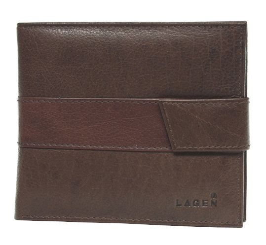 Lagen Pánska kožená peňaženka V-03 Brown