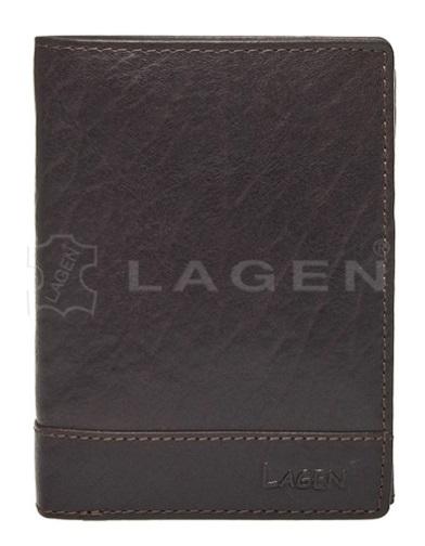 Lagen Pánska kožená peňaženka V-26/T D.BRN