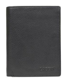 Lagen Pánska kožená peňaženka W-112 BLK