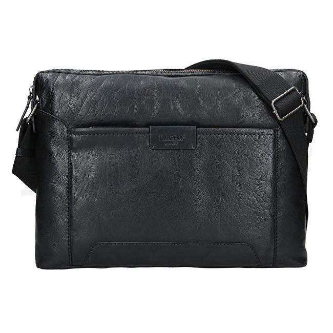 Lagen Pánska kožená taška 23605 Black