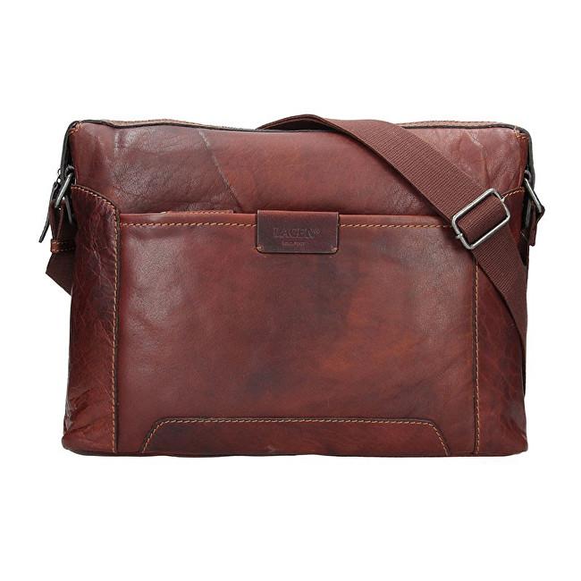 Lagen Pánska kožená taška 23605 Tan