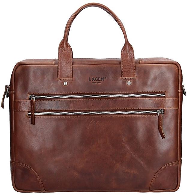 Lagen Pánska kožená taška 333-2 Tan