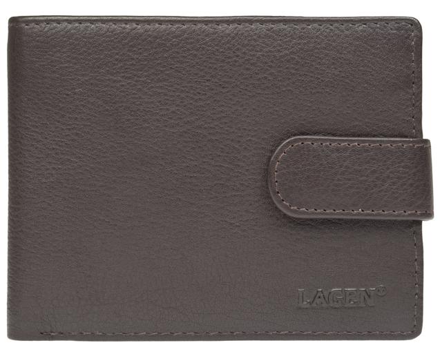 Lagen Pánska tmavo hnedá kožená peňaženka Dark Brown C-22/L