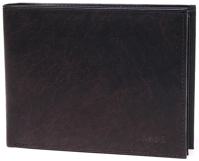 Lagen Pánska tmavo hnedá kožená peňaženka Dark Brown V-75