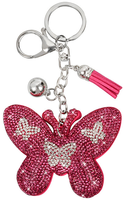 Lecharme Růžový přívěšek motýl 22500182