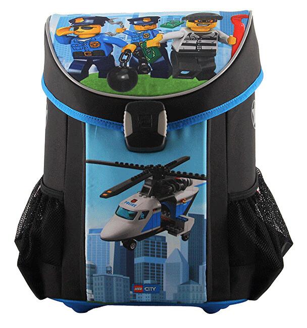Lego Školská aktovka LEGO CITY Police Chopper Easy