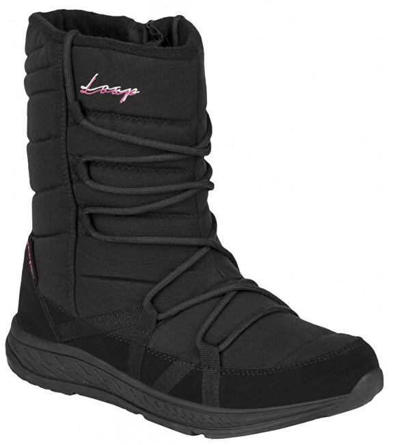 LOAP Cizme de zăpadă pentru femei Altena Black / White SBL18105-V11J 36