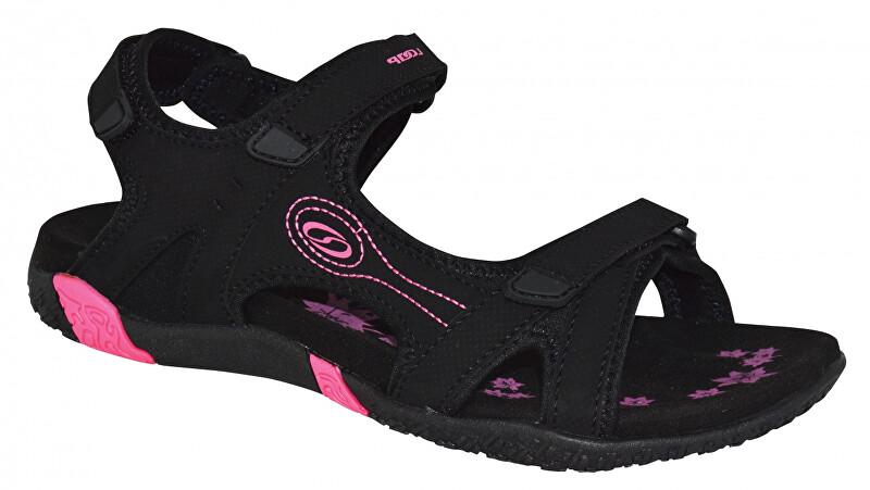 LOAP Dámske sandále Caffa Black/Magenta ružovo-čierne SSL1758 -V11J 40