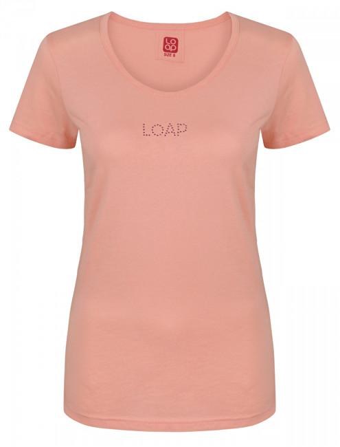 0dbee5651 LOAP Dámske tričko Belatka Peach Mel oranžové CLW1733-E48E XS e-shop >>