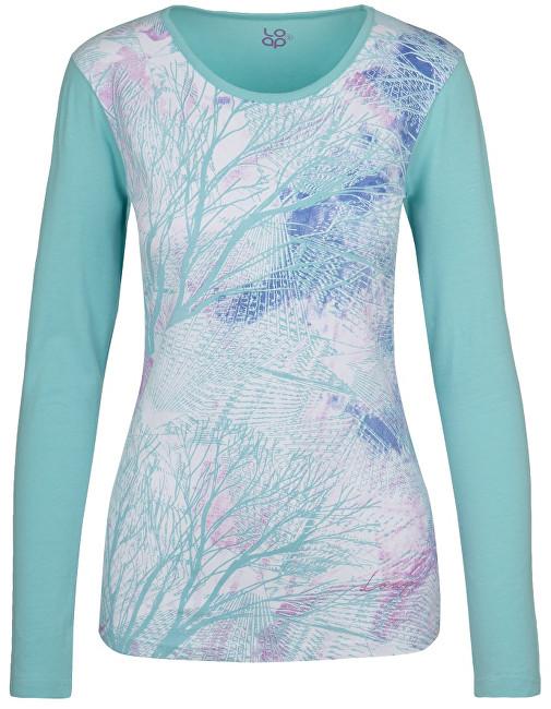 LOAP Dámske tričko Belinda Aqua Splash modrá CLW17116-I07I XL