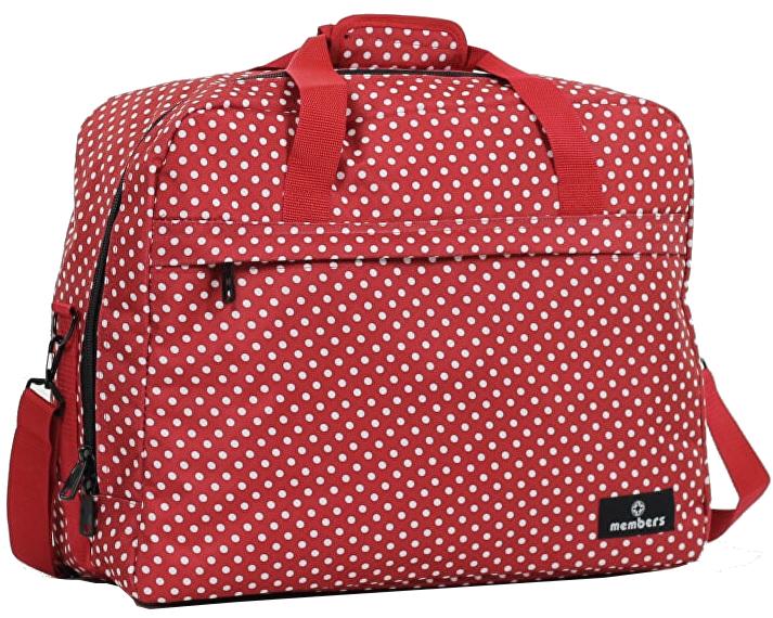 Member's Cestovní taška 40L SB-0036 červená/bílá