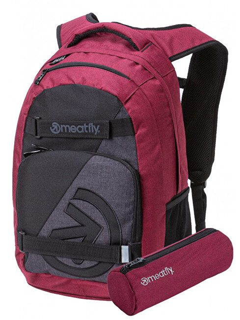 Meatfly Rucsac Exile 4 B-Ht. Burgundy, Black, Ht. Charcoal