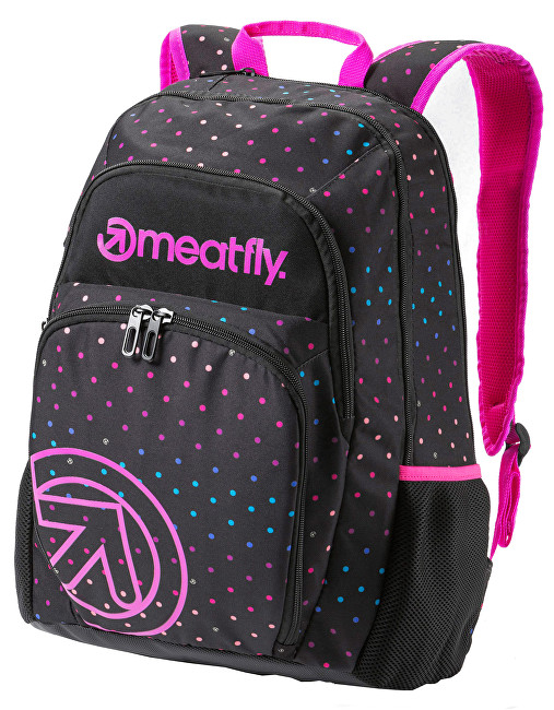 Meatfly Vault 26L B Rainbow Dot Black Print