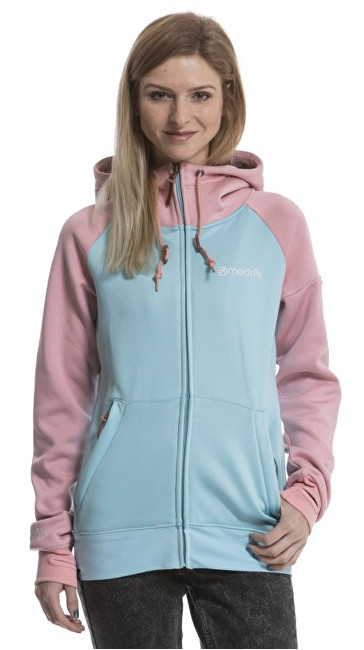 Meatfly Dámska mikina Alisha 3 Tech Hoodie H - Heather Apricot, Mint XS