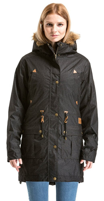 Meatfly Dámská zimní bunda Rainy 2 Jacket C - Black Heather XS
