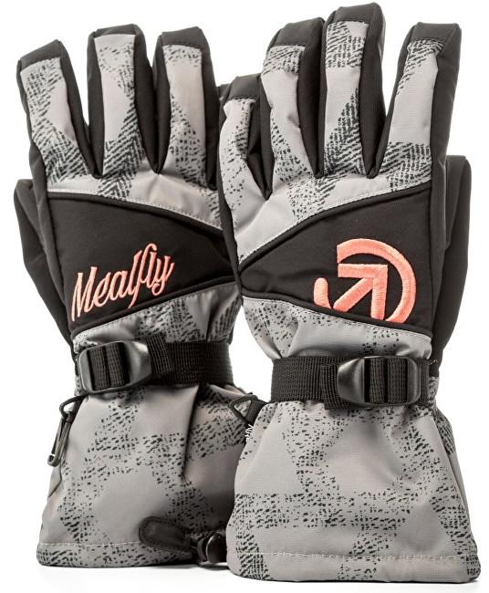 Meatfly Dámske prstové rukavice Destiny Gloves B - Grey Triangle Print S