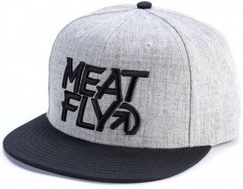 Meatfly Kšiltovka Motion Snapback A-Grey Heather, Black