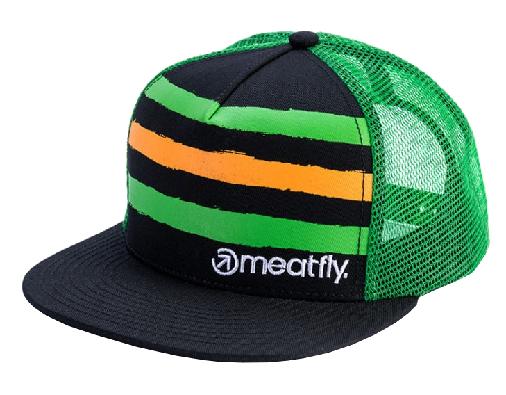 Meatfly Kšiltovka Walker Trucker B-Green, Black