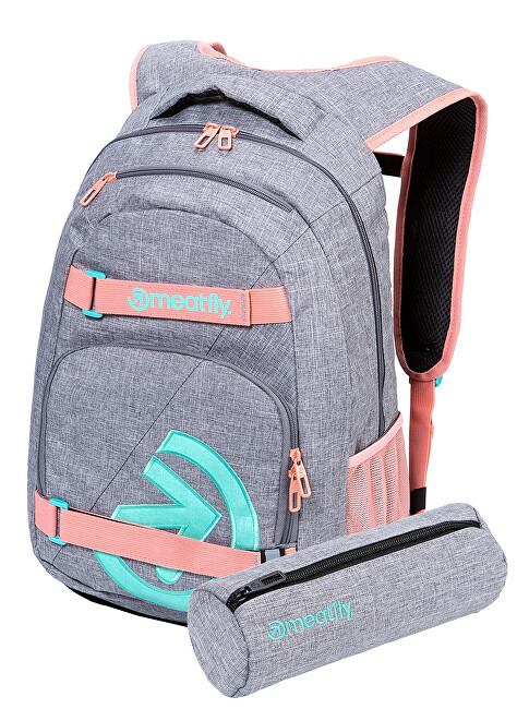 Meatfly Batoh Exile 5 H-Heather Grey, Pink